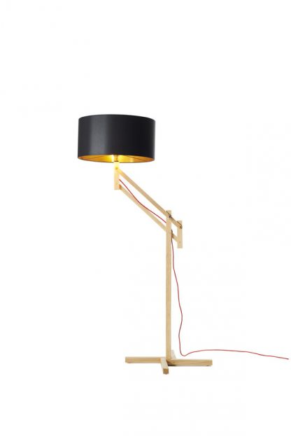 Mark Lowe Adjustable Standard Lamp Black Shade with Copper Lining