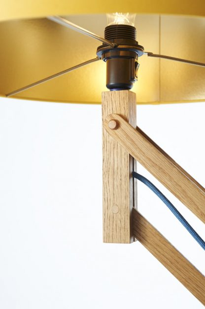 Mark Lowe Adjustable Standard Lamp Oak Lamp Lampholder Detail