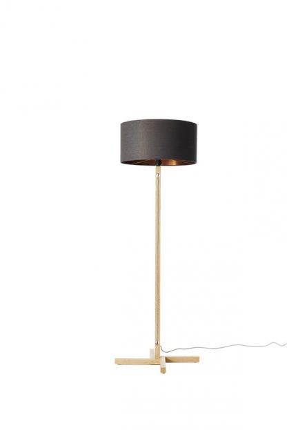 MLSL01 Standard Lamp Ash Grey Linen Shade