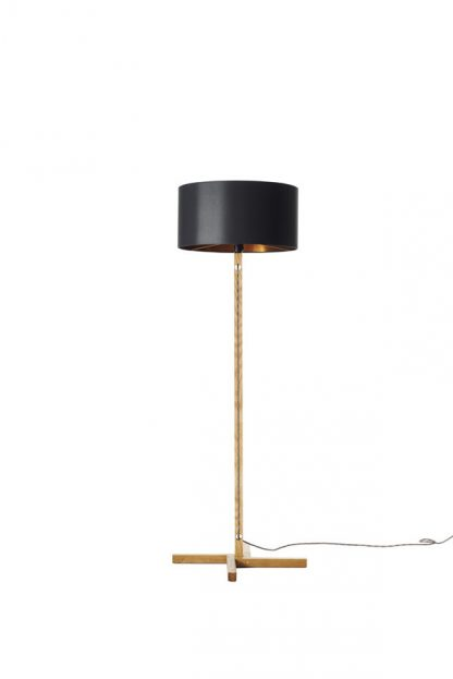 MLSL01 Standard Lamp Black Shade with Copper Lining