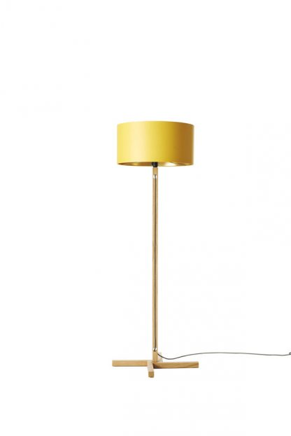 MLSL01 Standard Lamp Yellow Shade with Gold Lining