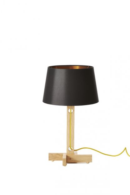 MLTL02 Table Lamo Black Shade Yellow Cord