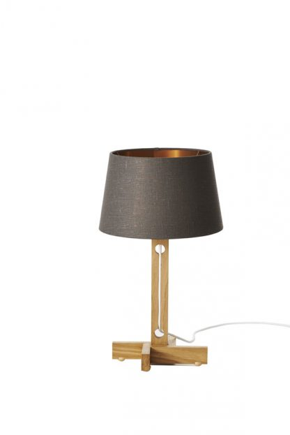 MLTL02 Table Lamp Grey Shade Copper Lining
