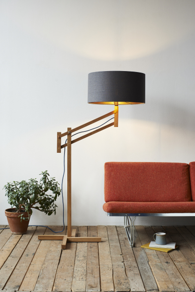 Mark Lowe Lighting Adjustable Lamp Black Shade