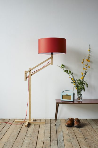 Mark Lowe Lighting Adjustable Lamp Red Shade