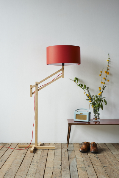 Mark Lowe Adjustable Lamp Red Shade