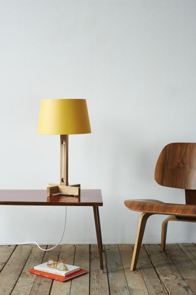 Mark Lowe Table Lamp Yellow Shade