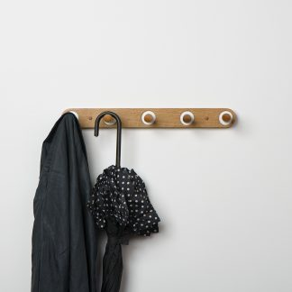 Edie Coat Rack in Sustainable Oak