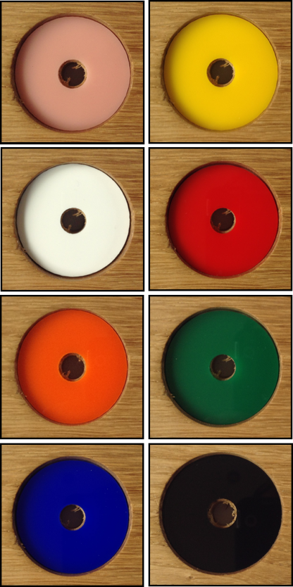 Acrylic Disc Colour Samples