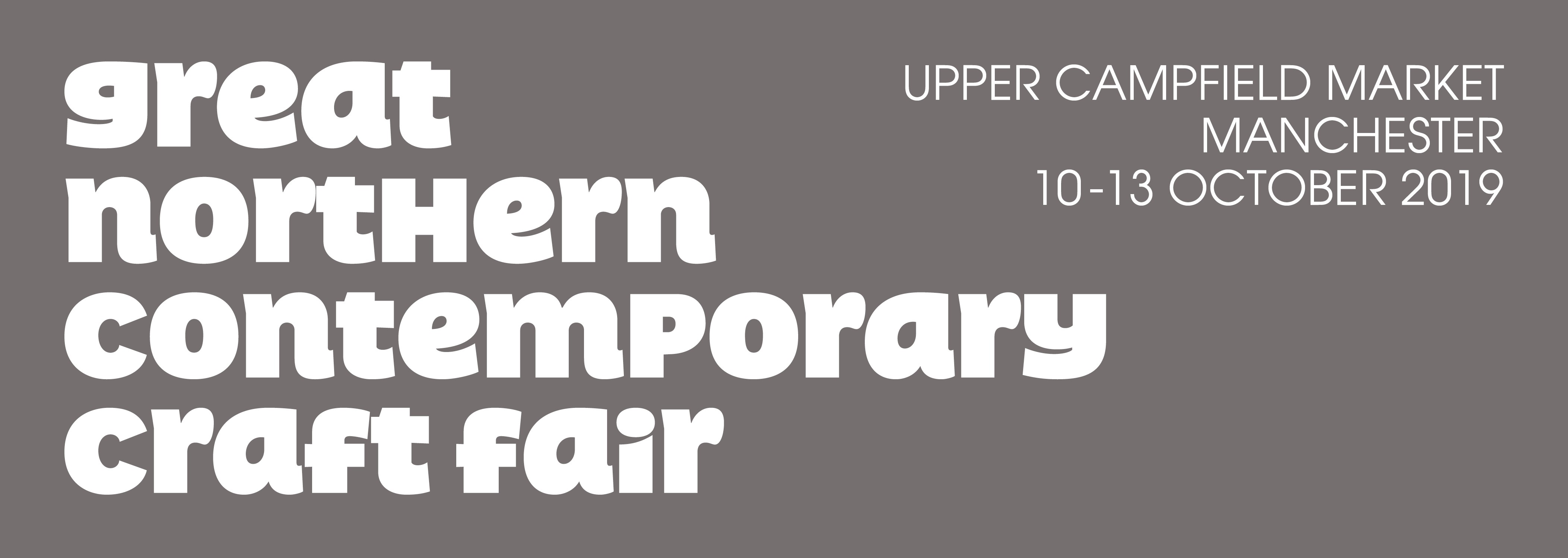 Header for the Great Northern Contemporary Craft Fair