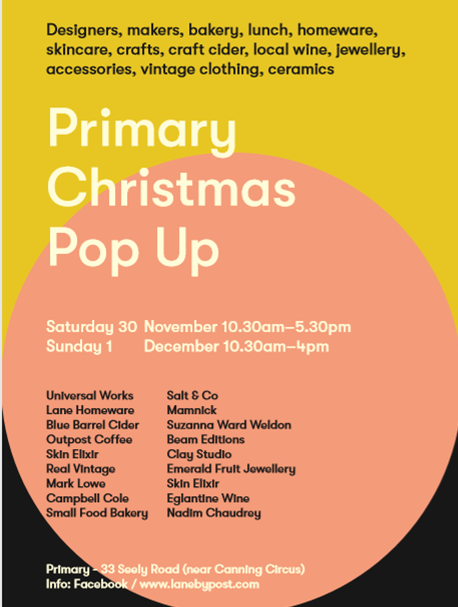 Primary Christmas Pop up market